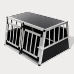 Small Double Door Dog Cage With Separate Board 65a 89cm 06-0771 Small Double Door Dog Cage With Separate Board 65a 89cm 06-0771