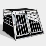 Aluminum Dog cage size 97cm Large Double Door Dog cage 65a 06-0773 Aluminum Dog cage size 97cm Large Double Door Dog cage 65a 06-0773