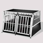 Large Double Door Dog cage With Separate board 06-0778 Large Double Door Dog cage With Separate board 06-0778